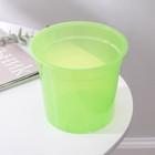 """Горшок для цветов 1,5 л """"Орхидея"""", D=15 см, цвет зелёный - фото 1694098"""