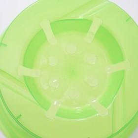 """Горшок для цветов 1,5 л """"Орхидея"""", D=15 см, цвет зелёный - фото 1694099"""