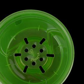 """Горшок для цветов 1,5 л """"Орхидея"""", D=15 см, цвет зелёный - фото 1694100"""