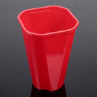 """Flower pot is 2 liters of """"rose"""", D=14 cm, color red"""