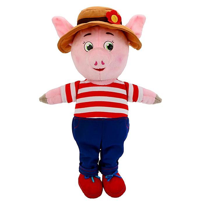 Мягкая музыкальная игрушка «Поросёнок» в костюме и шляпе, 26 см - фото 4468871