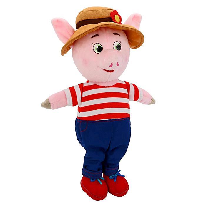 Мягкая музыкальная игрушка «Поросёнок» в костюме и шляпе, 26 см