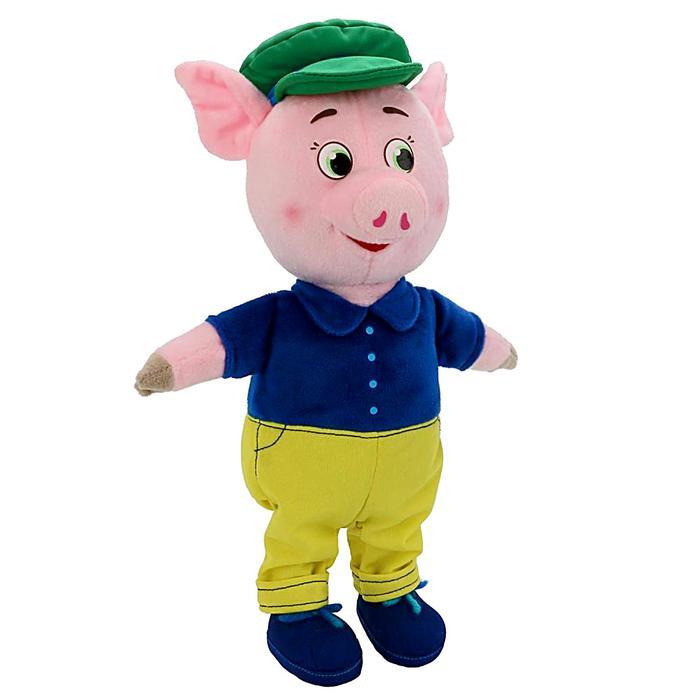 Мягкая музыкальная игрушка «Поросёнок» в костюме и кепке, 26 см