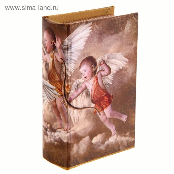 """Шкатулка-книга """"Игры ангелов"""" обтянута шёлком"""