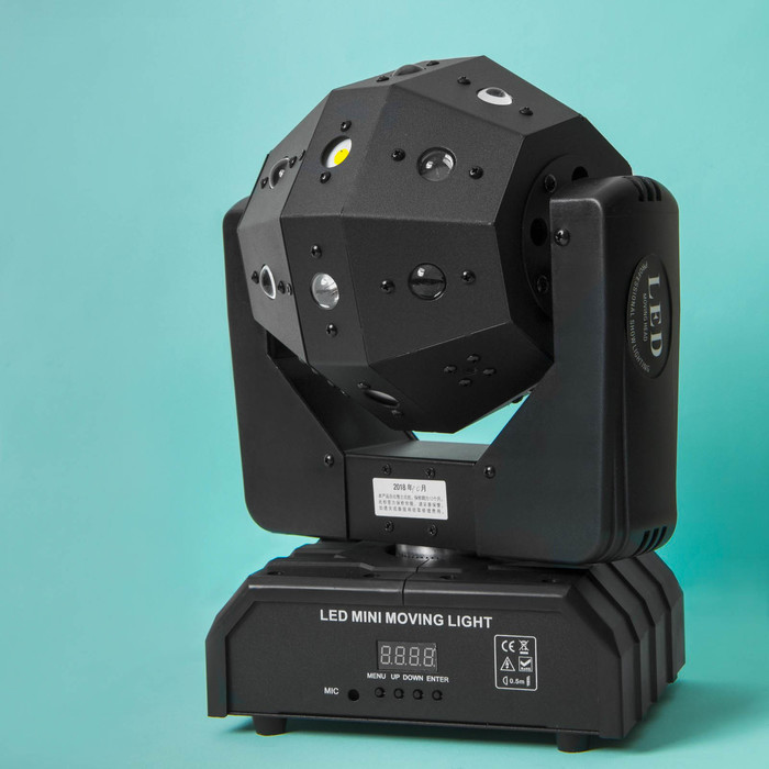 Вращающаяся голова «Грани», 16 × 3 Вт, RGBW, лазер, строб, DMX512/автозвук/Master-Slave