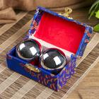 Поющие шары Баодинга (шары здоровья) набор 2 шт d=4,5 см серебро  МИКС
