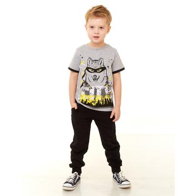 Брюки для мальчика, черный, рост 104 см