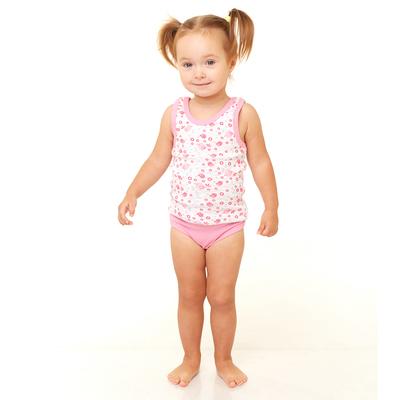 Комплект бельевой для девочки (майка, трусы), розовый, рост 134-140 см