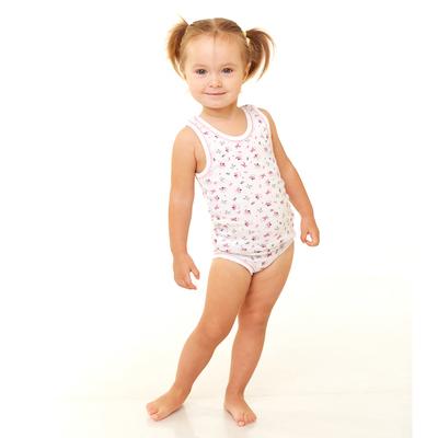 Комплект бельевой для девочки (майка, трусы), белый, рост 146-152 см