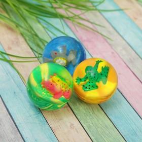 Мяч каучук 'Лягушка' 4*5 см, цвета МИКС Ош