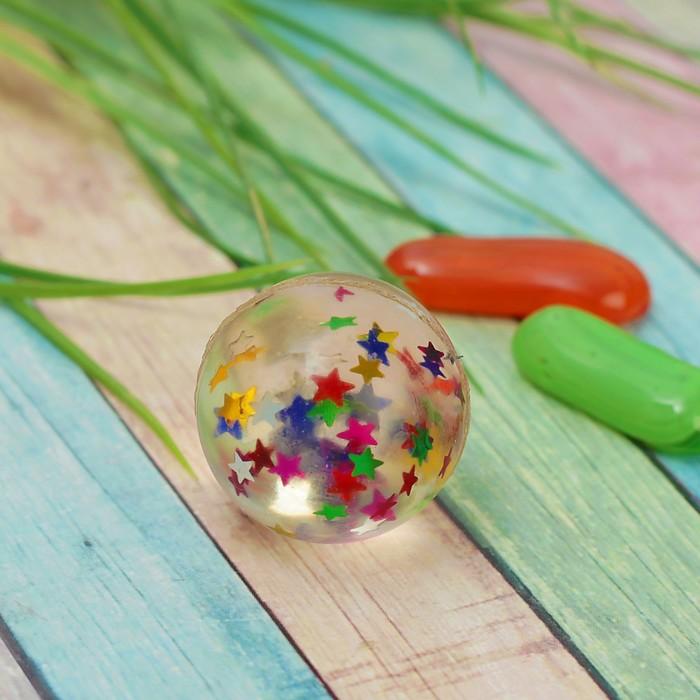 Мяч каучуковый «Звёзды», 3,2 см