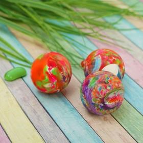 Мяч каучук 'Перелив' 4*5 см, цвета МИКС Ош