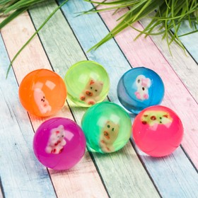 "Ball rubber ""Toy"" is 3.2 cm, color MIX"