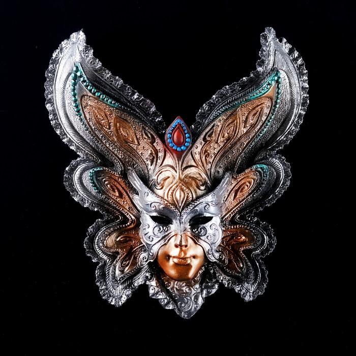 """Венецианская маска """"Бабочка"""" 25см золото МИКС"""