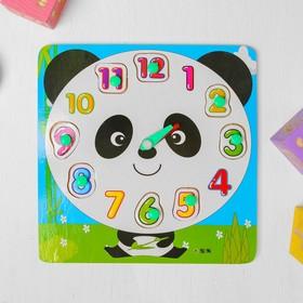 """Рамка - вкладыш часы """"Панда"""""""