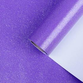 """Бумага упаковочная, """"Звездная пыль"""", с блёстками, неоновый пурпурный, 0,7 x 5 м"""