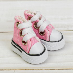 Sneakers for dolls length of sole is 3.8 cm, color pink