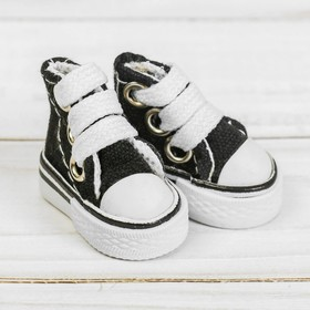 Sneakers for dolls length of sole is 3.8 cm, color black