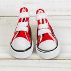 Кеды для кукол, длина подошвы 3,8 см, цвет красный - фото 105513536
