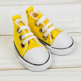 Sneakers for dolls length of sole 5 cm, color yellow