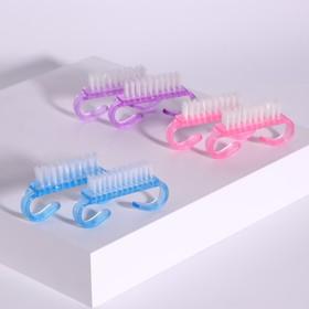 Brushes set for manicure/pedicure, 2 PCs, 6.5 x 1,3(±0,5)cm, MIX color