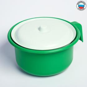 Горшок детский с крышкой, цвет зелёный