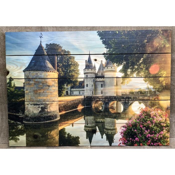 """Картина для бани """"Крепость"""", МАССИВ, 60×40 см"""
