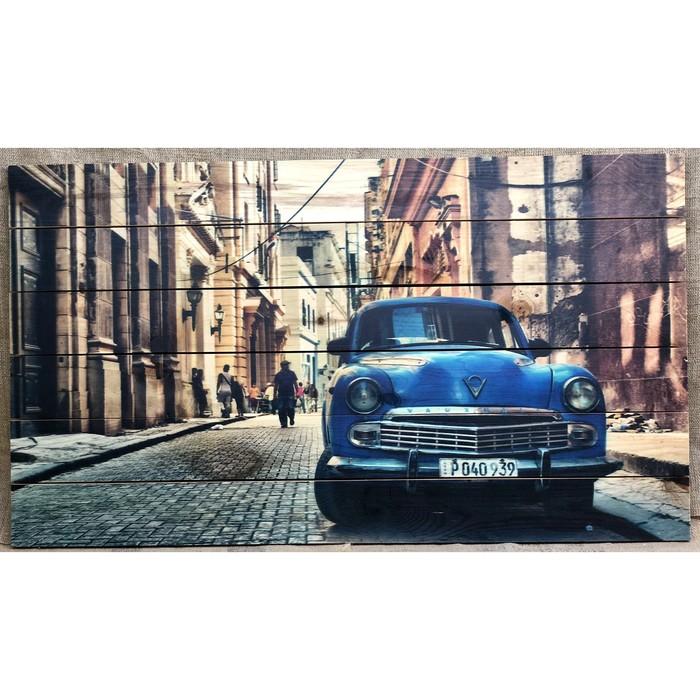 """Картина для бани """"Ретро авто"""", МАССИВ, 60×40 см"""