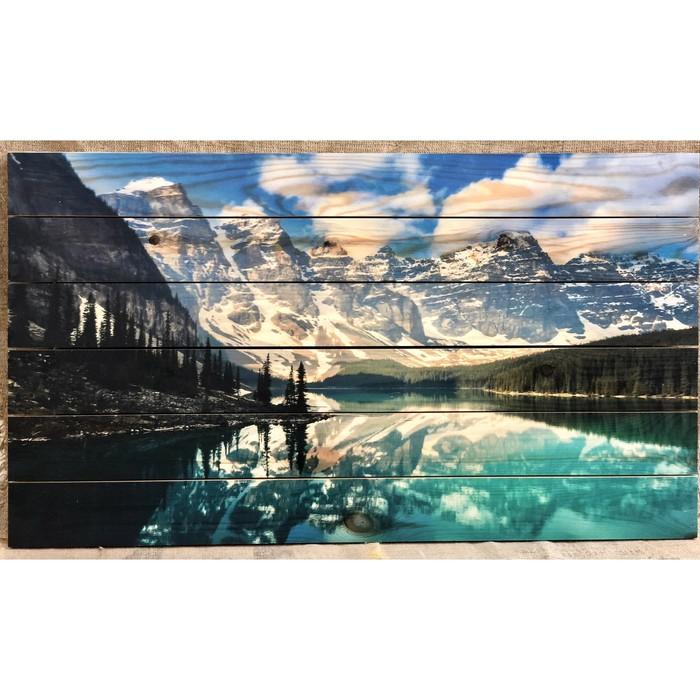 """Картина для бани """"Горные пейзажи"""", МАССИВ, 60×40 см"""
