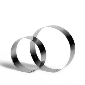 """Набор форм для выпечки и выкладки """"Круг"""", D-20, H-5 см, 2 шт."""