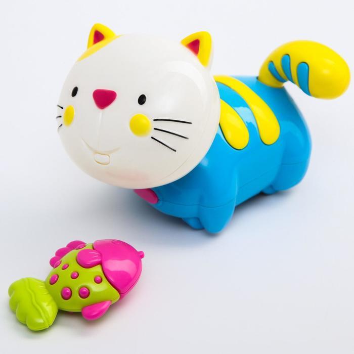 Игрушка развивающая «Котёнок с рыбкой» МИКС - фото 76137420