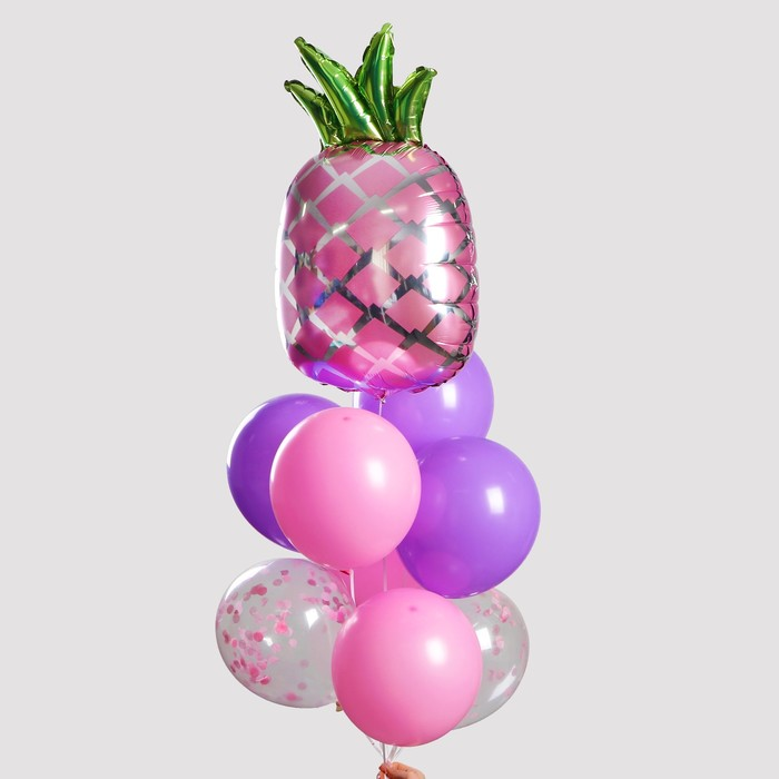 """Фонтан из шаров """"Гавайская вечеринка"""", с конфетти, латекс, фольга, 10 шт."""
