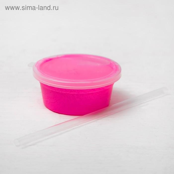 """Жвачка для рук """"Волшебные пузыри"""" 40 г, трубочка, цвет розовый"""