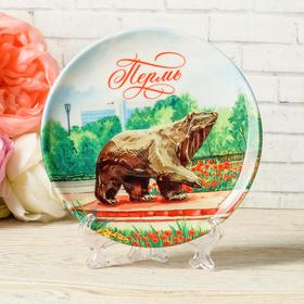 Тарелка декоративная «Пермь. Мишка», d=12 см