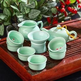 "Набор для чайной церемонии ""Дракон"", 9 предметов: чайник 200 мл, 6 чашек 30 мл, чахай 150 мл, сито"
