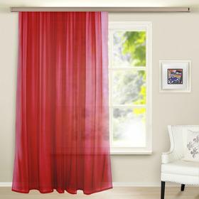 Штора вуаль однотонная 290х260 см, цвет бордовый
