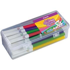 Фломастеры 24 цвета Luxor Coloring смываемые, в пластиковом пенале
