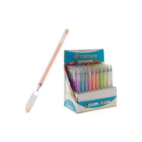 """Ручка гелевая Crown """"Hi-Jell Pastel"""" 0,8 мм, стержень пастель, микс"""