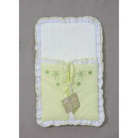 Конверт на выписку «Белые кудряшки», размер 40х69 см, цвет зелёный