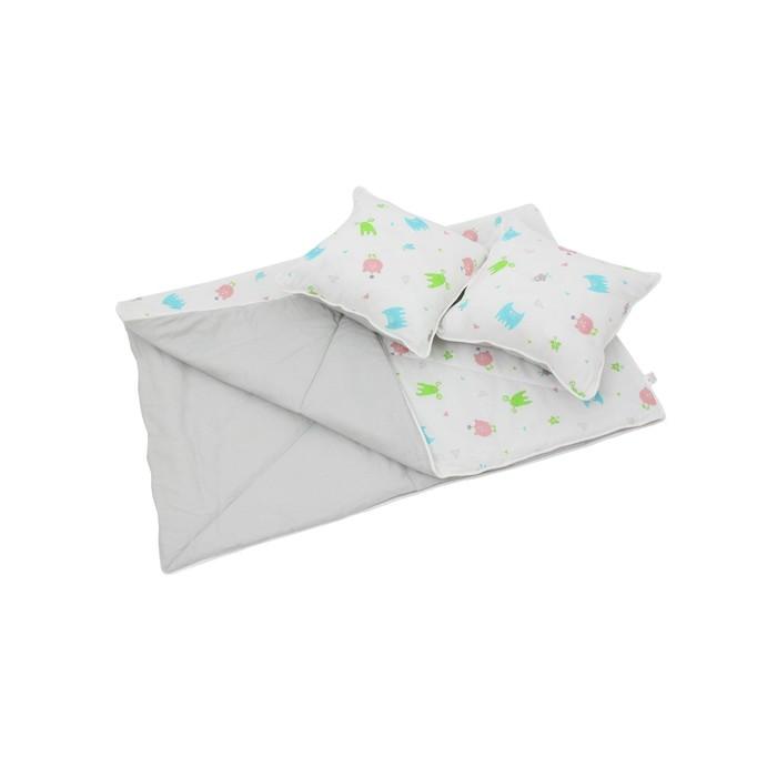 Комплект для вигвама: одеяло-110х140 см, наволочка-40х40 см-2 шт, серый, монстрики