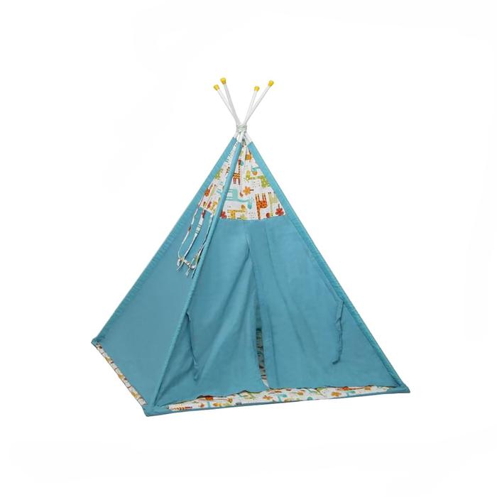 Вигвам «Жираф», размер 130х130 см, высота 147 см, голубой