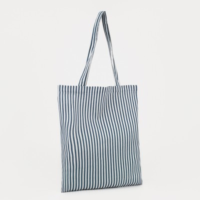 "Textile bag ""Stripes"", the zipper, no padding, color white"