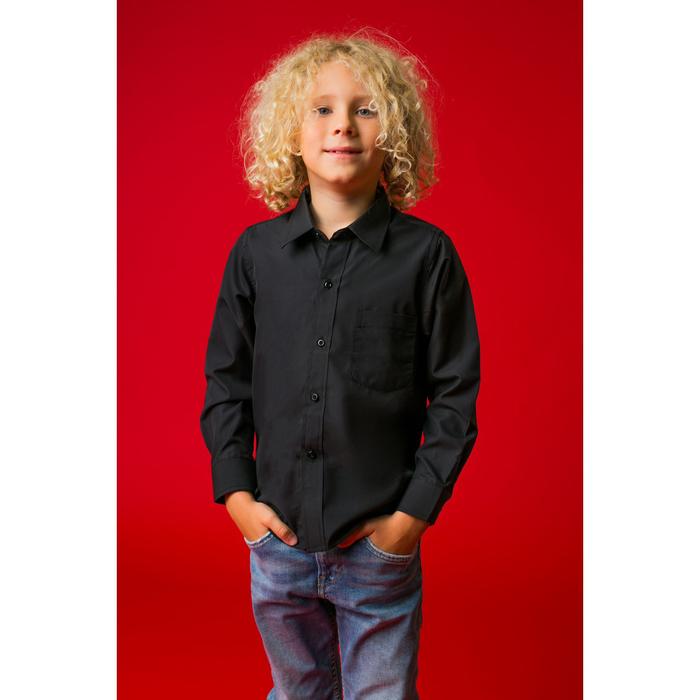 """Рубашка для мальчика """"Классическая"""", рост 122 см, цвет чёрный"""