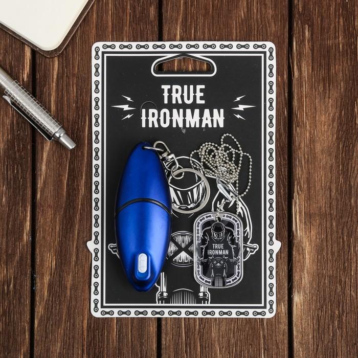 """Набор """"True ironman"""", жетон, брелок-мультитул"""