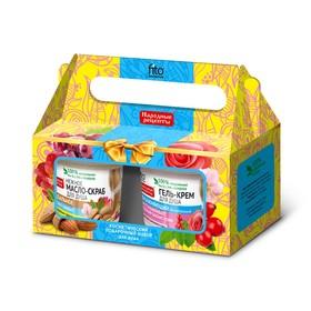 Подарочный набор № 16 Fitoкосметик «Народные рецепты»: масло-скраб для душа, 155 мл + гель-крем для душа, 155 мл