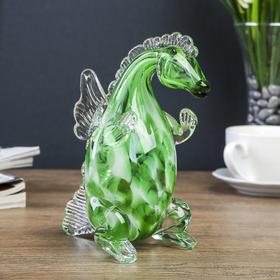 """A souvenir glass to Steklomash """"green Dragon"""" 16.5 cm"""