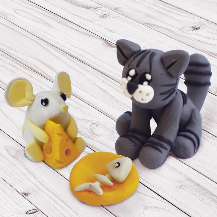 """Масса для лепки """"Кот и мышка"""", 2 в 1"""