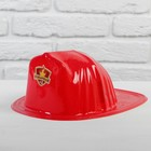 """Каска """"Пожарный №1"""" детская, красная"""