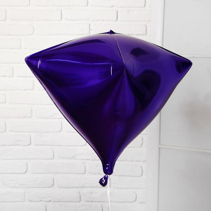 """Шар фольгированный 27"""" 3D, индивидуальная упаковка, цвет фиолетовый"""