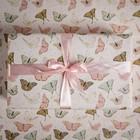 Бумага упаковочная крафтовая «Бабочки», 50 × 70 см
